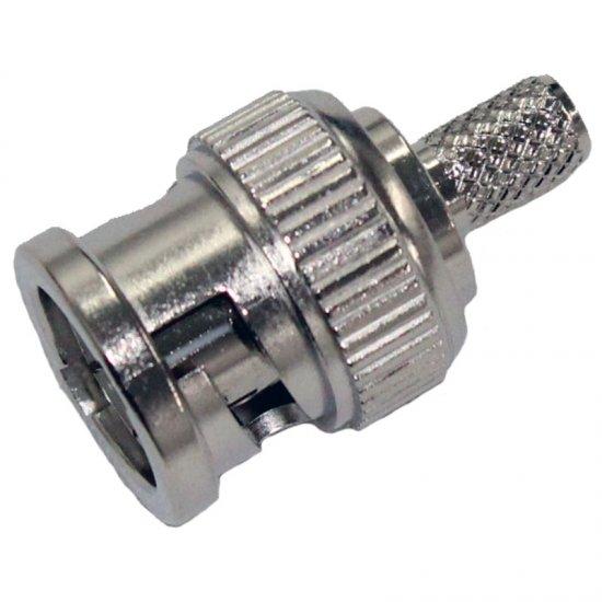 BPCR174 BNC Crimp Plug RG-174/U, RG-188A/U, RG-316/U, LLA100, LMR100, KX 22A, KX 3, BMRC 100 Flex