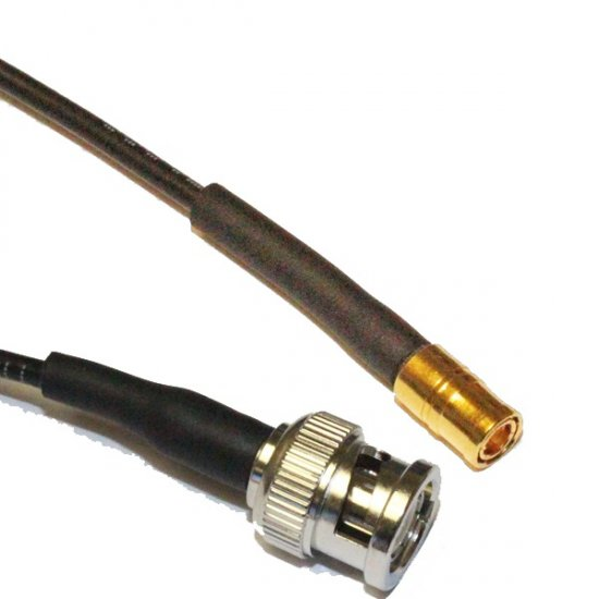 Smb Male To Bnc Male Cable Assembly Rg174 1 5m