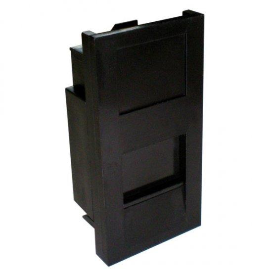 100-014-BK Euromod 25mm X 50mm Flat Keystone Shutter - Black