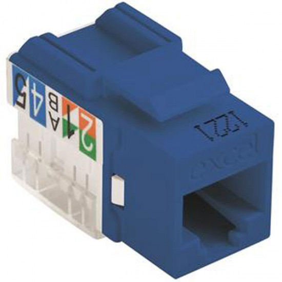 100-011-BU Excel Category 6 (UTP) Unscreened Keystone Jack - Blue