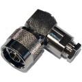 N Elbow Pressure Sleeve Solder Clamp Plugs 50 Ohm